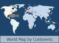 Interactive World Map by Continents
