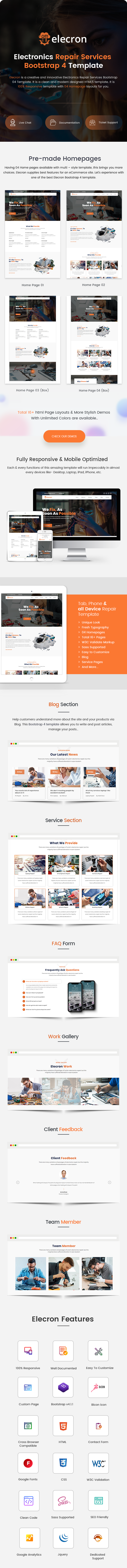 Electronics Repair Services Bootstrap 4 Template