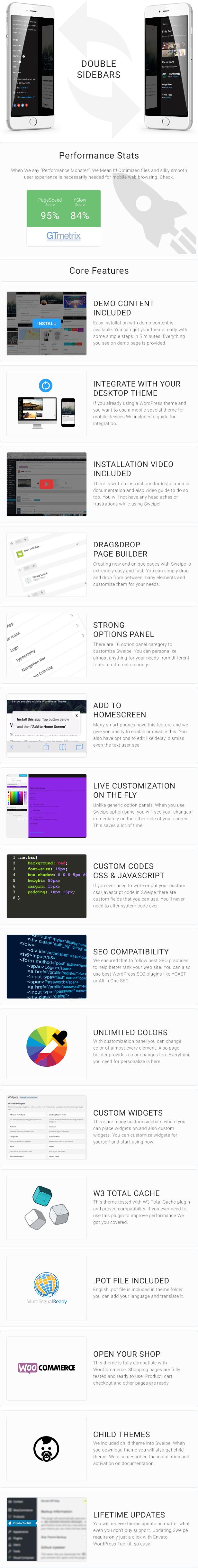Sweipe - Responsive WordPress Mobile Theme - 6