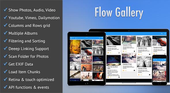 Flow Gallery - HTML5 Multimedia Gallery