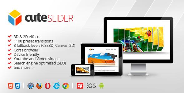 3D & 2D HTML5 Image Slider