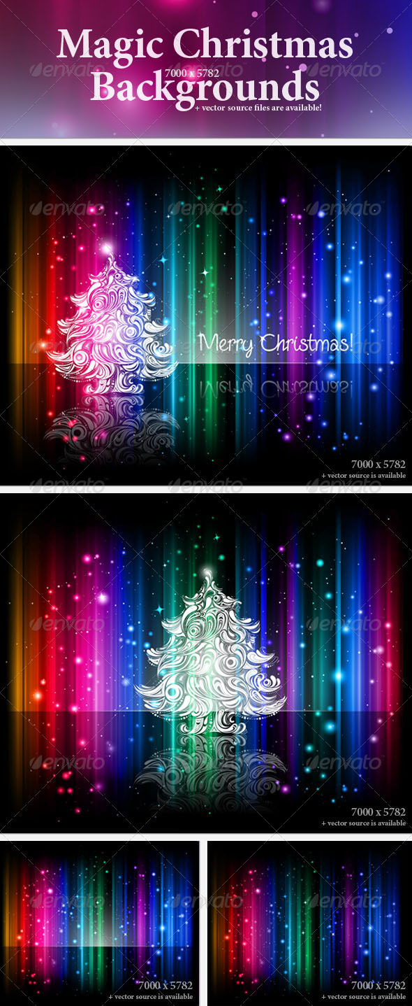 Colorful Christmas Backgrounds