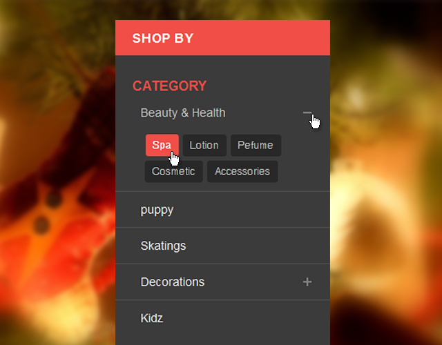 Shop By search box