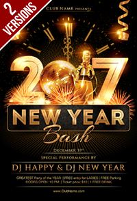 New Year Party Flyer Template - 14