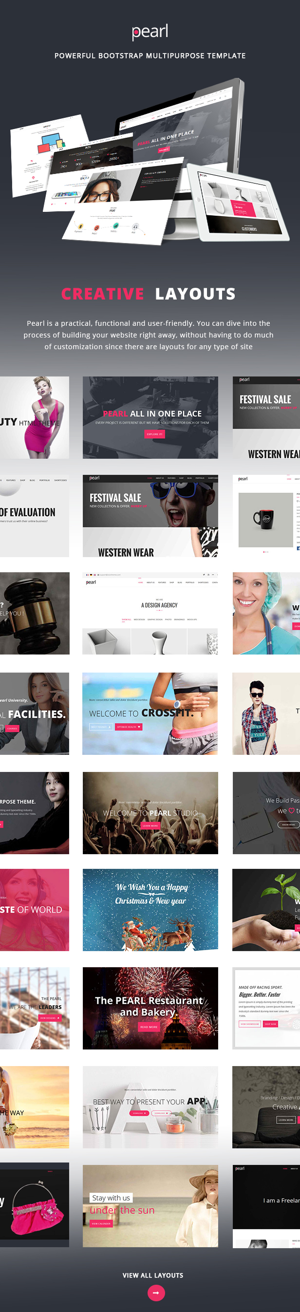 Pearl | Multi-Purpose HTML5 Responsive Template