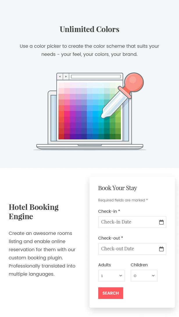 WordPress Hotel Theme - Oceanica - 5