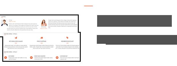 Testimonials - Features - Integration