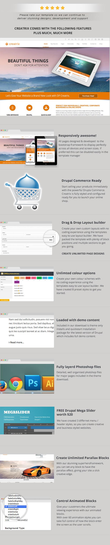 Creatrix - Drupal Commerce, Multipurpose Theme - 1