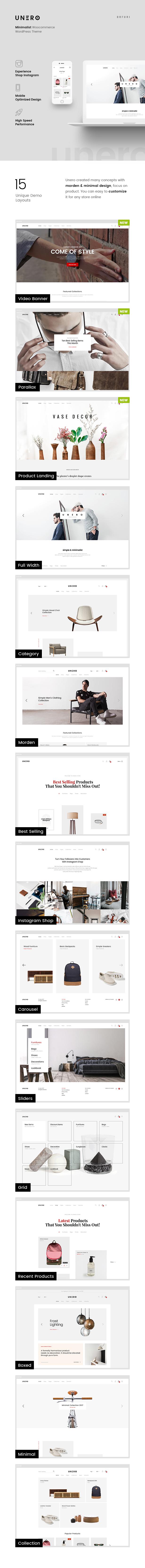 Unero - Minimalist AJAX WooCommerce WordPress Theme - 9