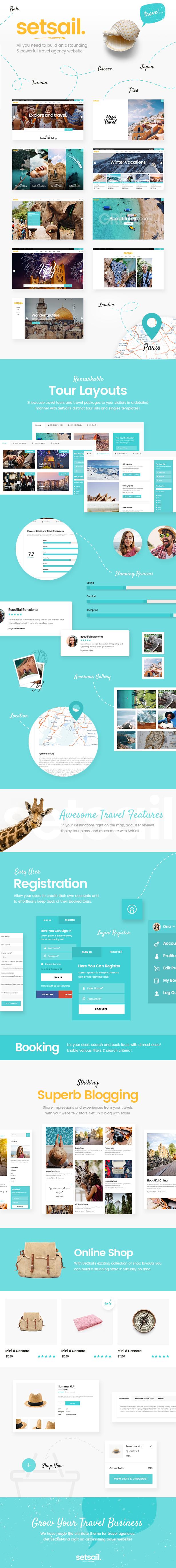 SetSail - Travel Agency Theme - 1