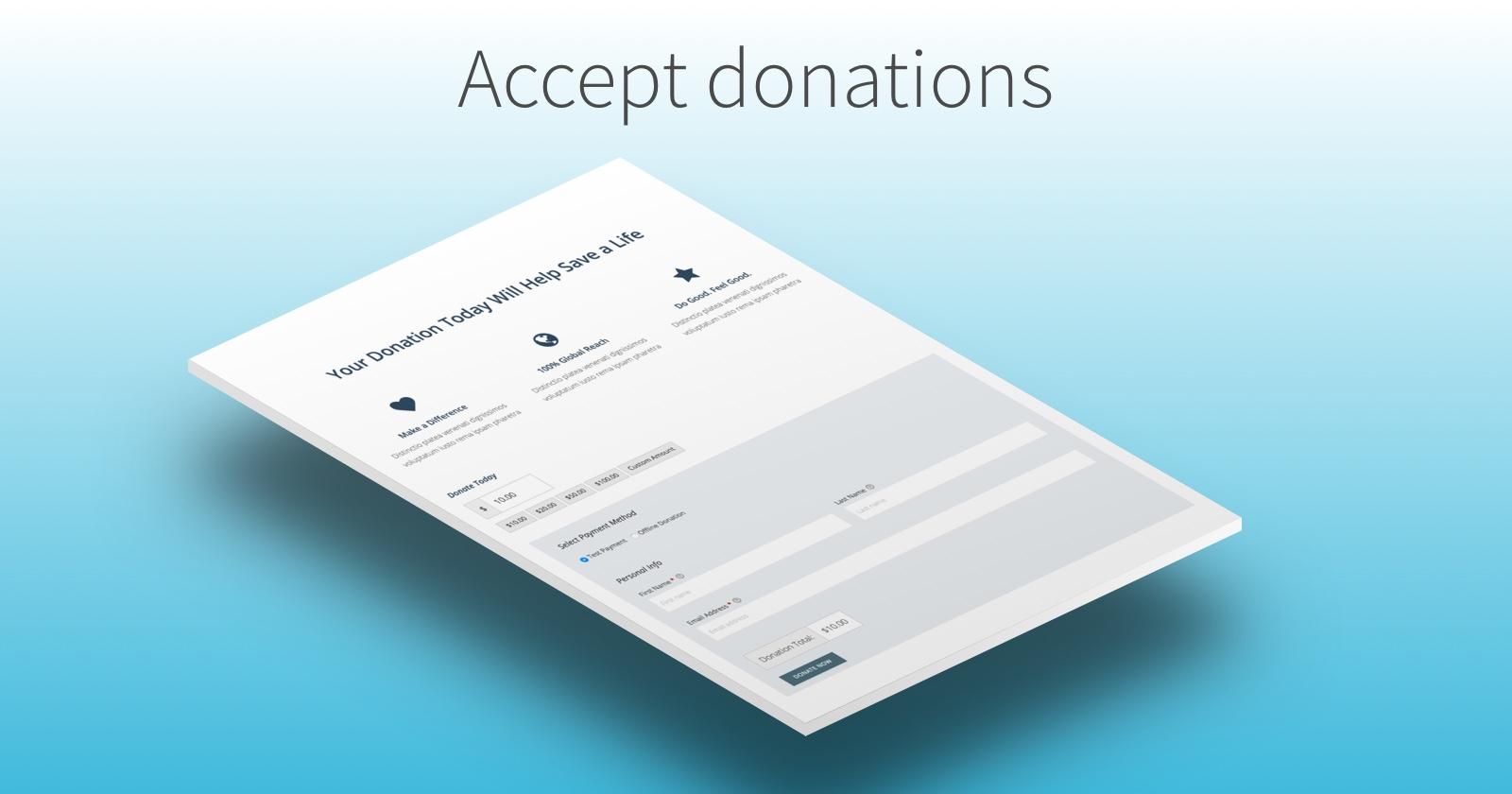 Accept donations with Advocator WordPress Theme