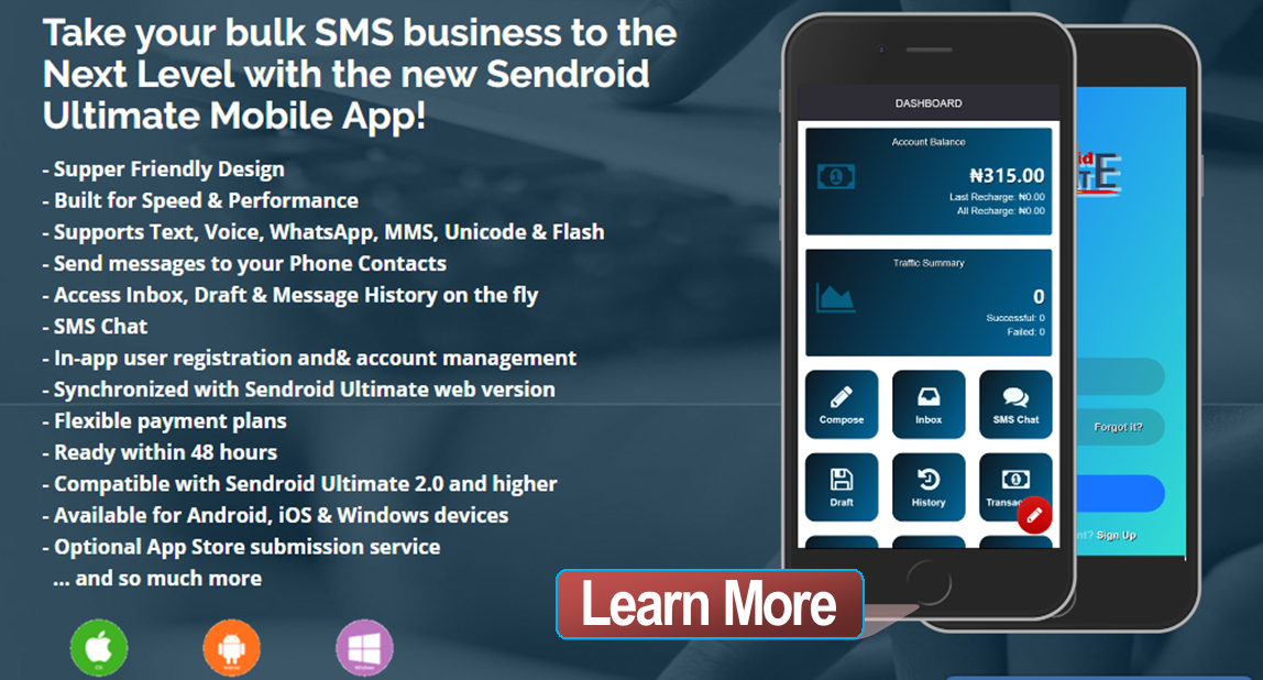 Sendroid Ultimate - SMS, WhatsApp & Voice Messaging Script with SMS Chat & White-Label Reseller - 1