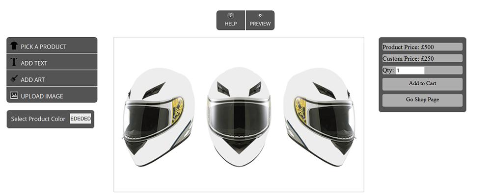 WooCommerce Custom Super Bowl Helmet Designer - 15