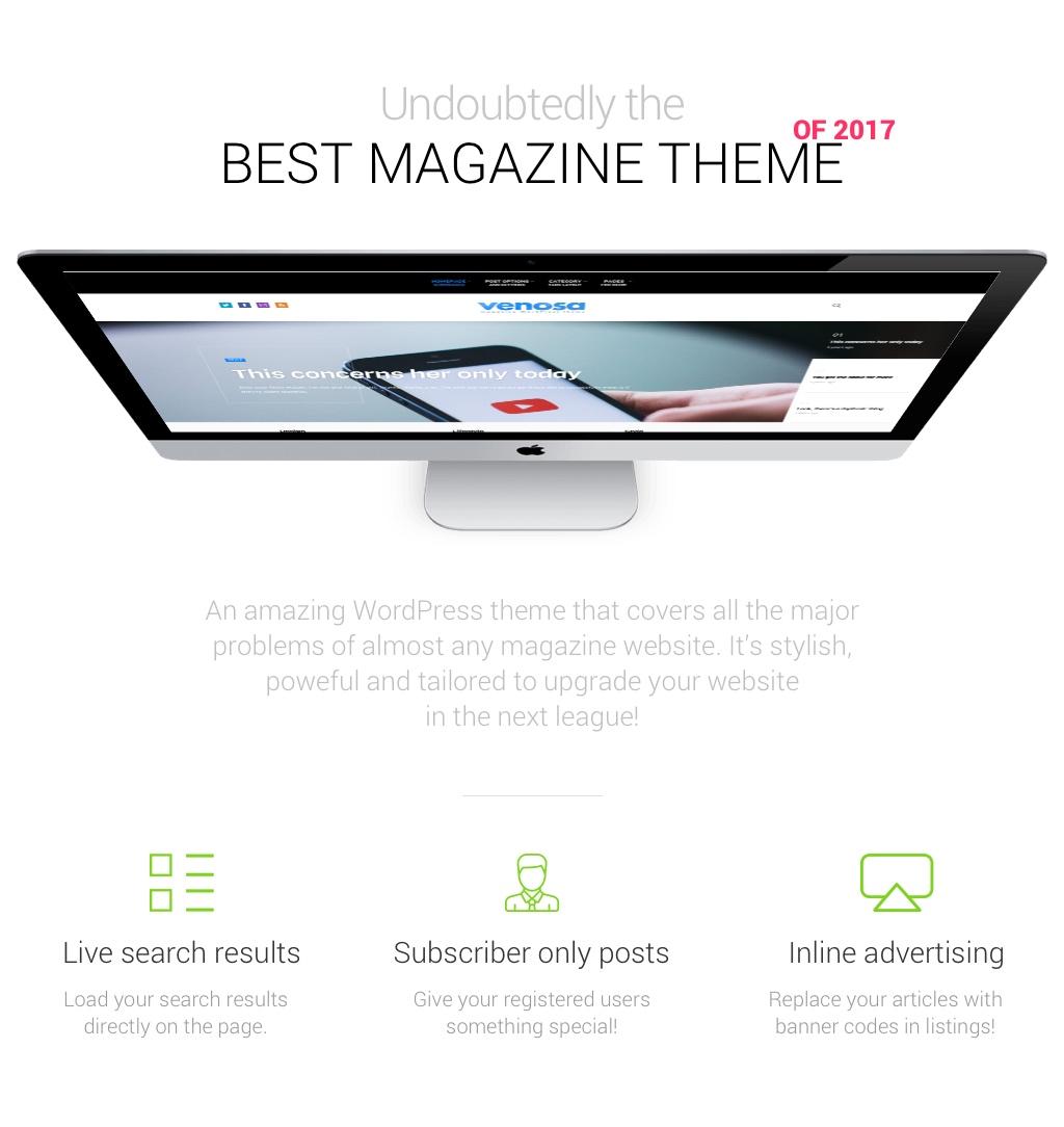Venosa - Magazine & Blog WordPress Theme - 4