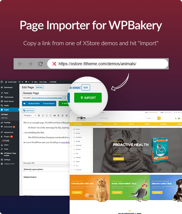 xstore page importer