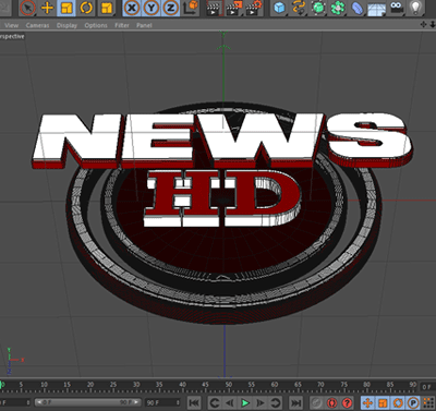 News Broadcast Cinema 4D 3D Text Files