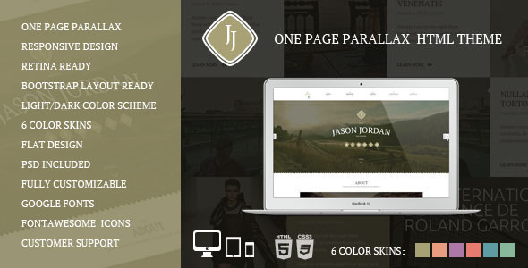 JJ -  One Page Multi Purpose Portfolio PSD Theme - 9