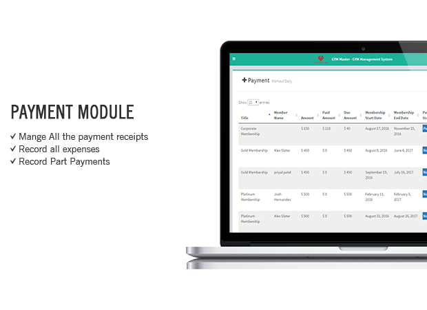 gym payment module