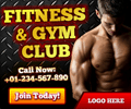 Fitness and Gym Club Banner ad Design