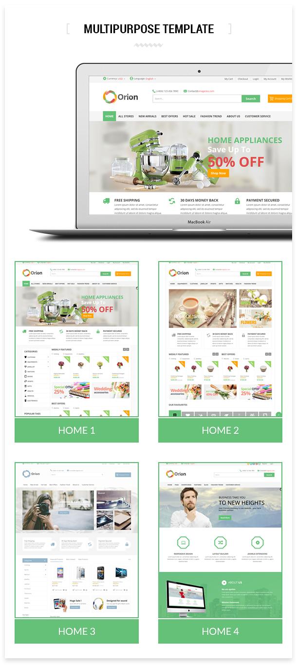 Orion :: Businesses & e-Commerce Joomla Template - 12