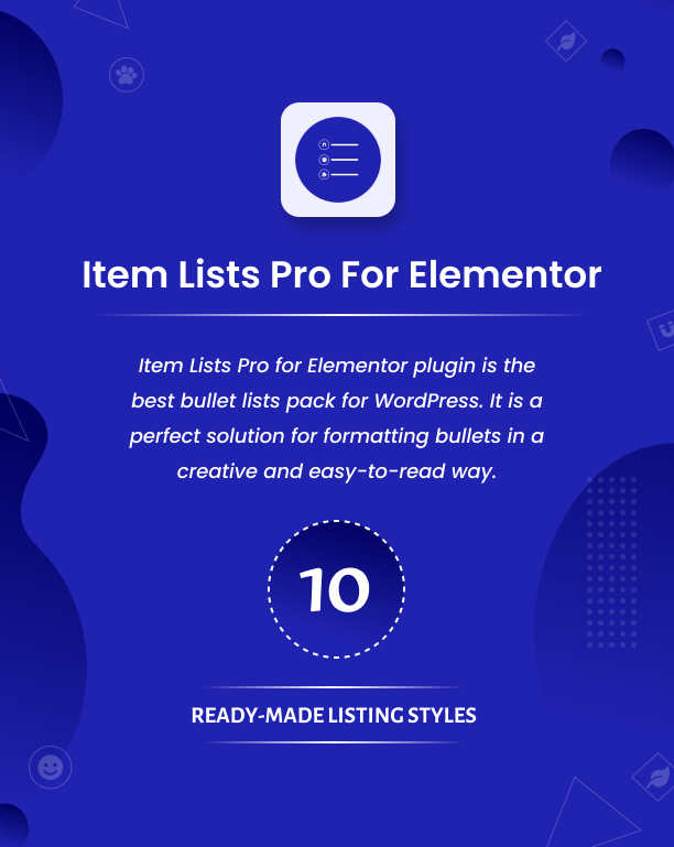 Item Lists Pro for Elementor Plugin