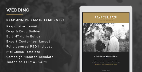 Graphicriver Wedding Invitation HTML Email Template