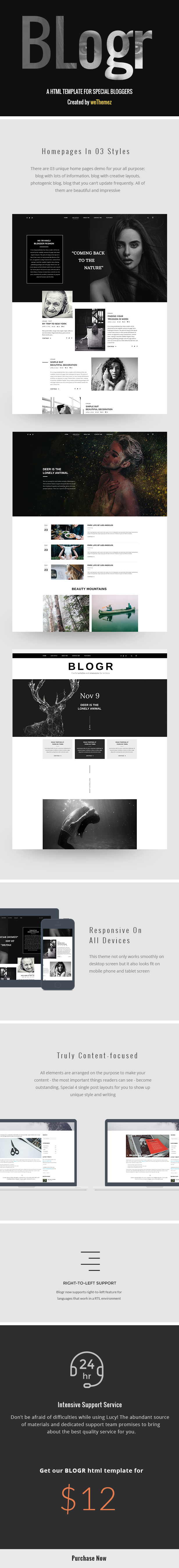 BLOGR HTML Template