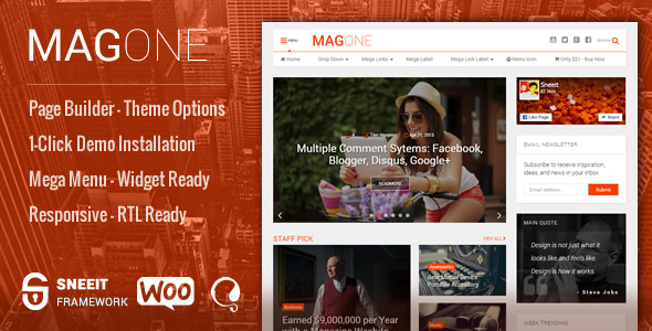 MagOne ­ Responsive Magazine & News WordPress Theme