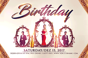Birthday Party Flyer Template 1 - 16
