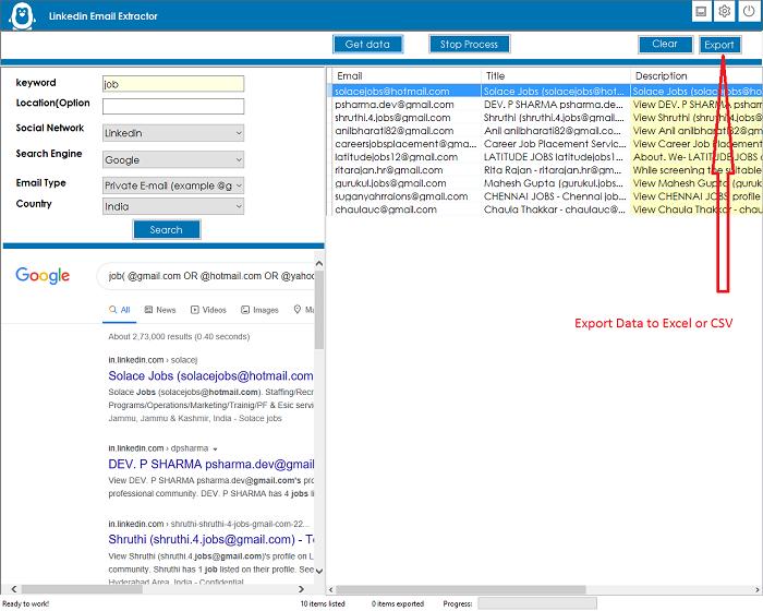 LinkedIn Emails Scraper and Extractor - 2