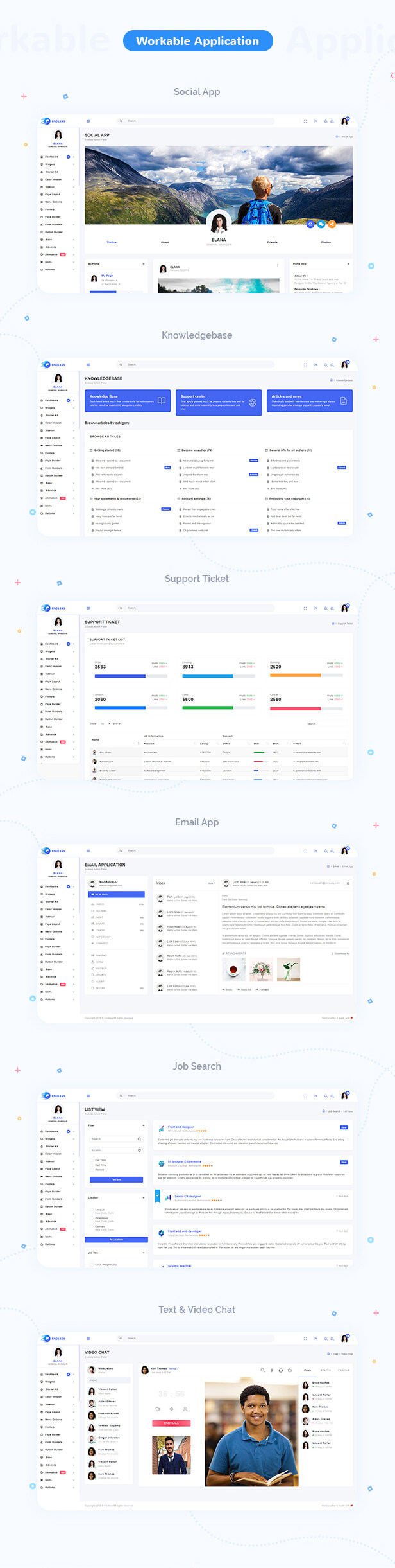 Endless Admin Dashboard theme