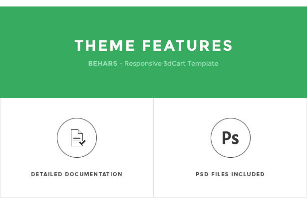 Behars - Responsive 3dCart Theme Features