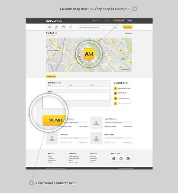 AutoMarket - HTML Vehicle Marketplace Template - 4