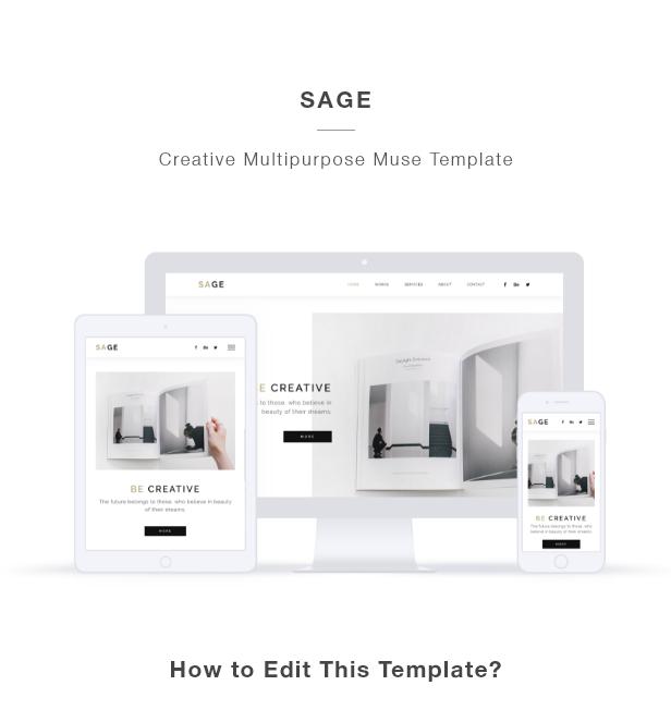 SAGE - Creative Agency Portfolio Muse Template