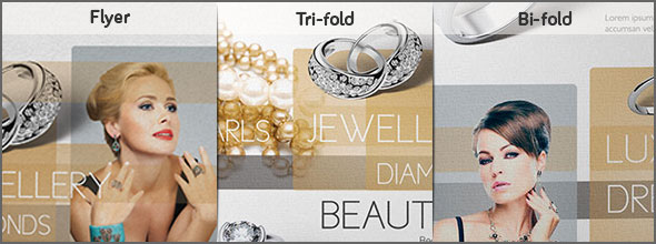 Jewellery items flyer bundle