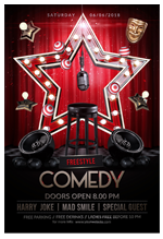 Comedy Flyer Template - 1