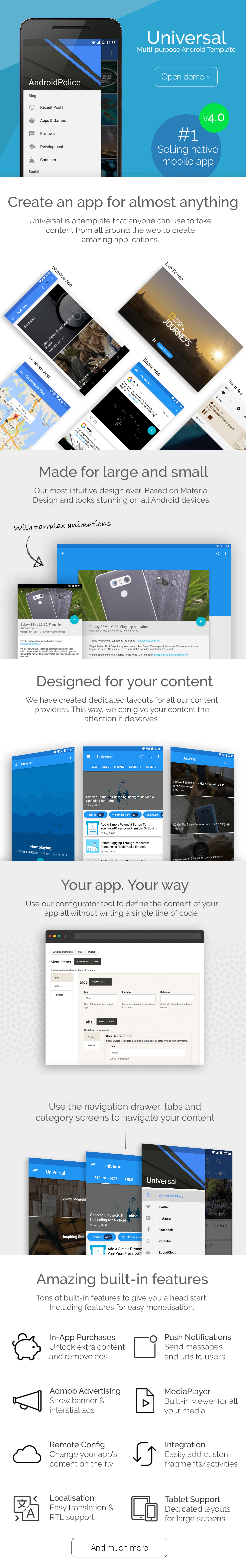 universal full multi purpose android app