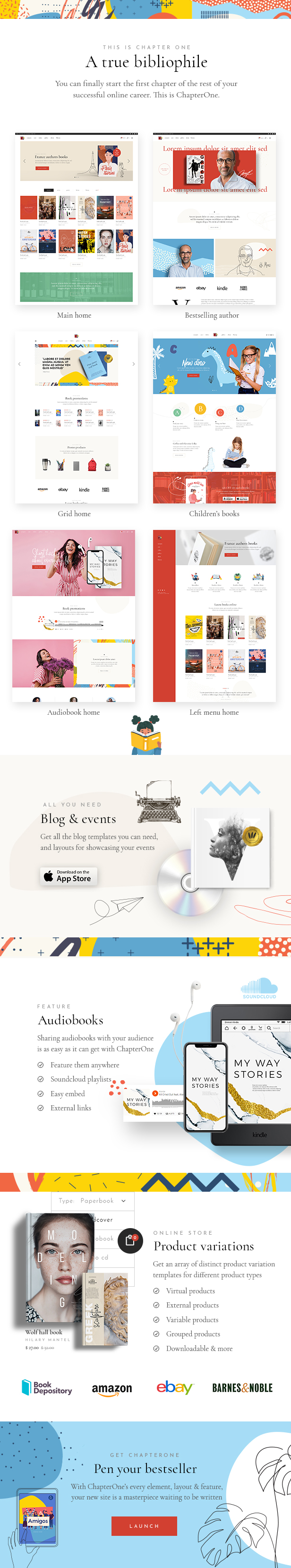 ChapterOne - Bookstore and Publisher Theme - 1