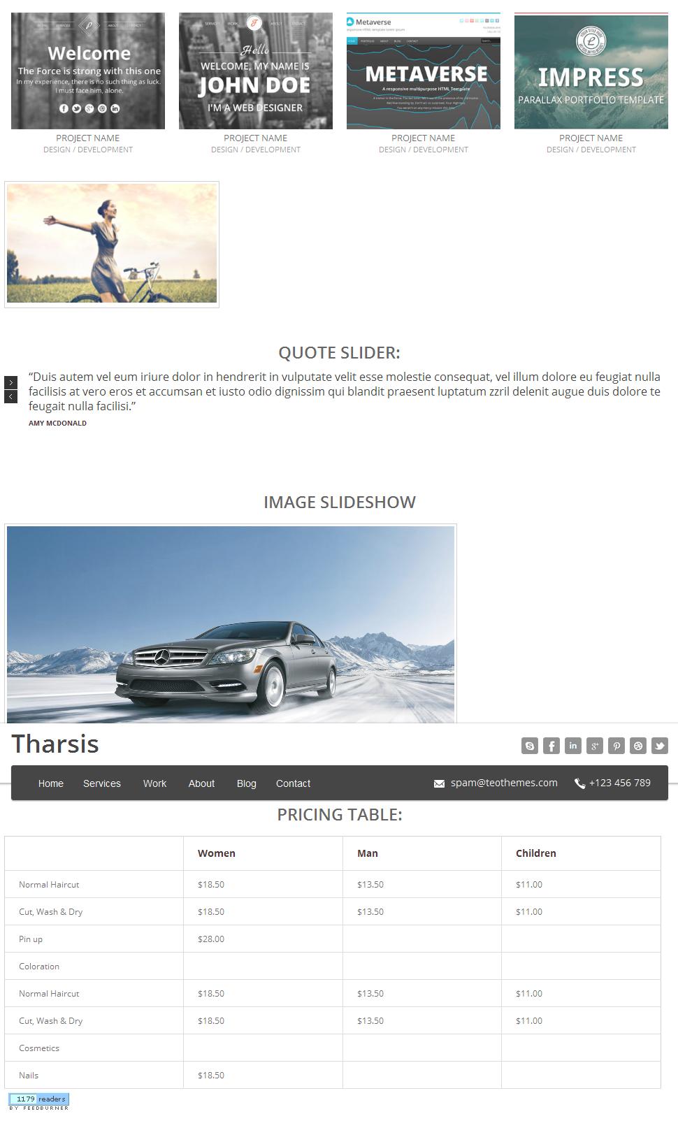 Tharsis - Responsive One Page Portfolio Theme - 8