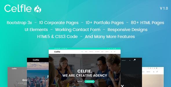 Celfie - Bootstrap 3x Multi-Purpose Drupal 8 Theme