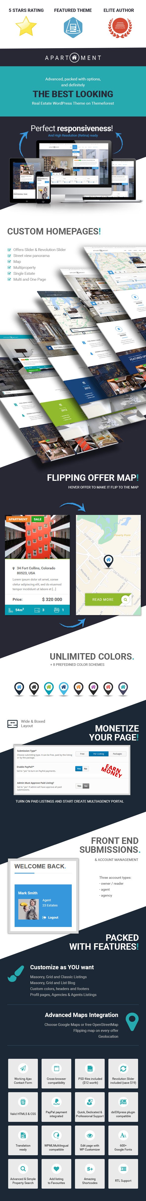 Apartment WP - Real Estate Responsive WordPress Theme for Agents, Portals, Single Property Sites - 1