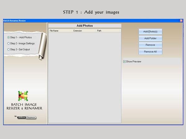 Batch Image Renamer And Image Resizer - 1