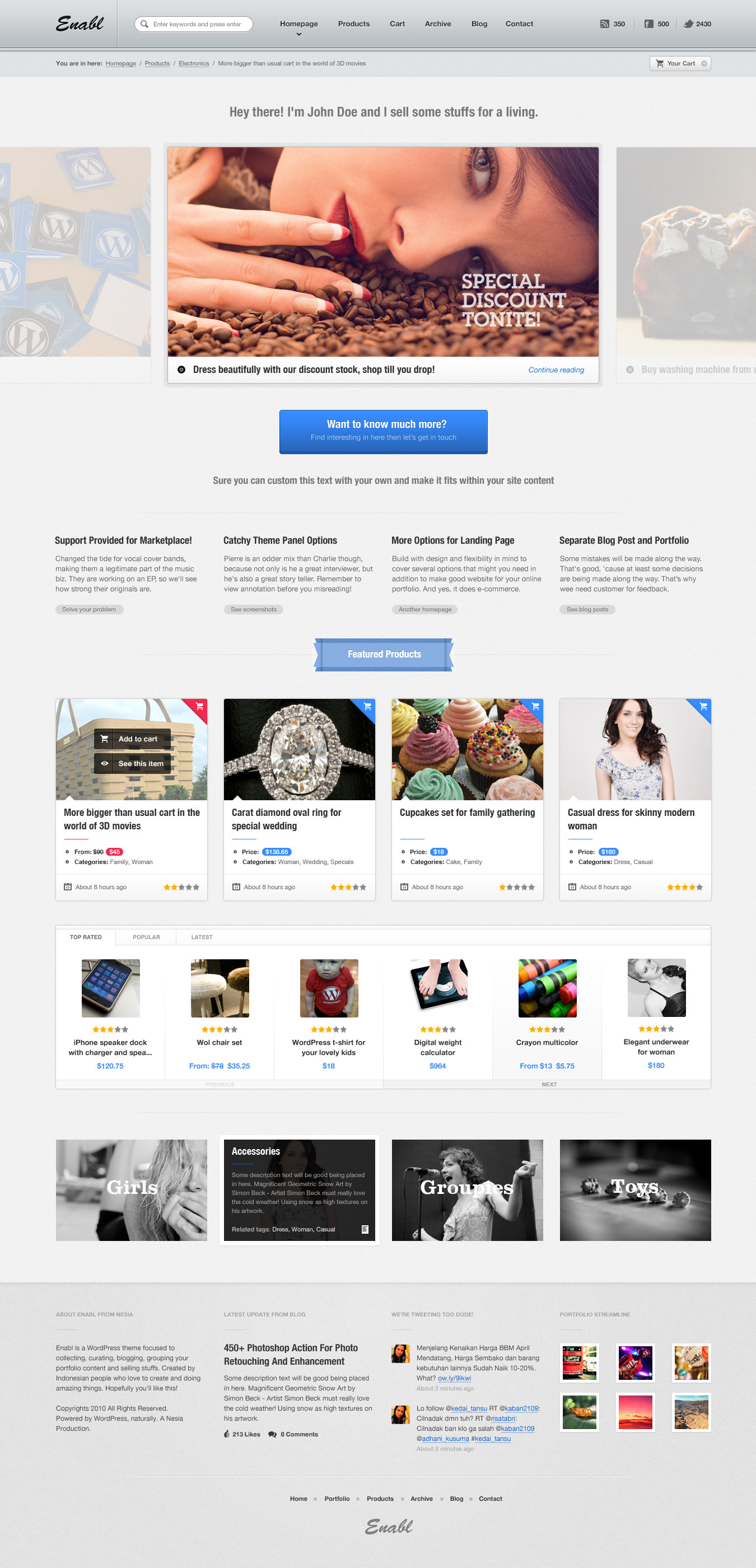 commerce business and online store template by nesia themeforest