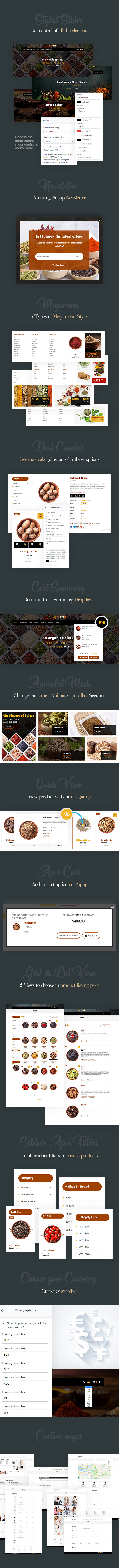 Best Free Shopify Theme For Mobile Spices Dry Fruits & Nuts Store Waffy Overview