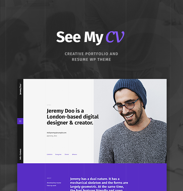 Awesome Keys: Cv, Portfolio, VCard, Resume, Personal, Cv Theme, Resume Theme,  Personal Theme, Portfolio Theme, Cv WordPress Theme, Resume WordPress Theme,  ... And Wordpress Resume Theme