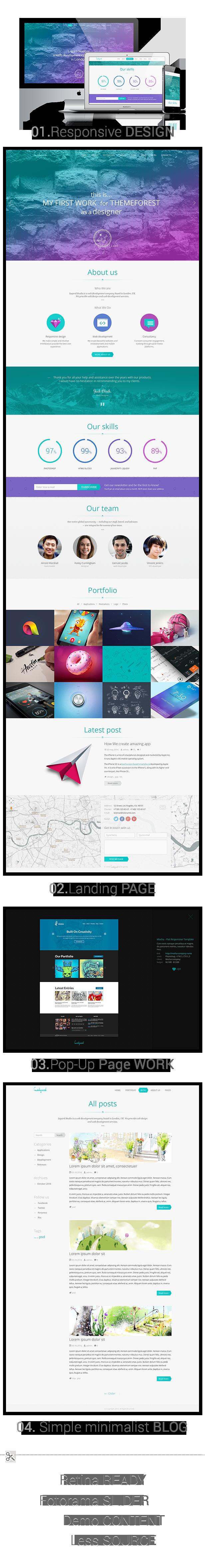 Ledgard WP - Clean Responsive Landing Page + Blog