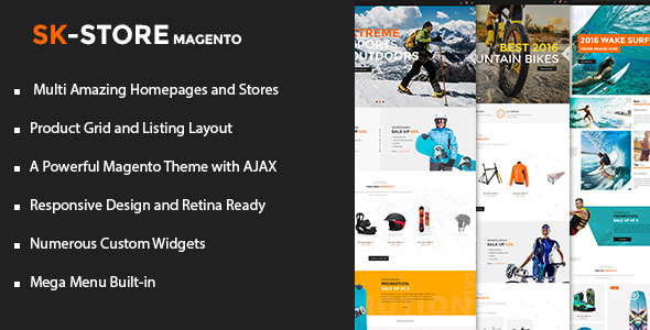 SK Store - Unique Magento Theme for Sport Stores
