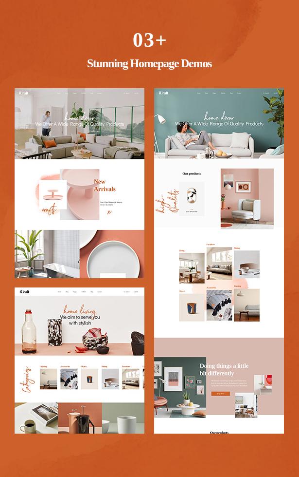 03+ Stunning Homepage Demos