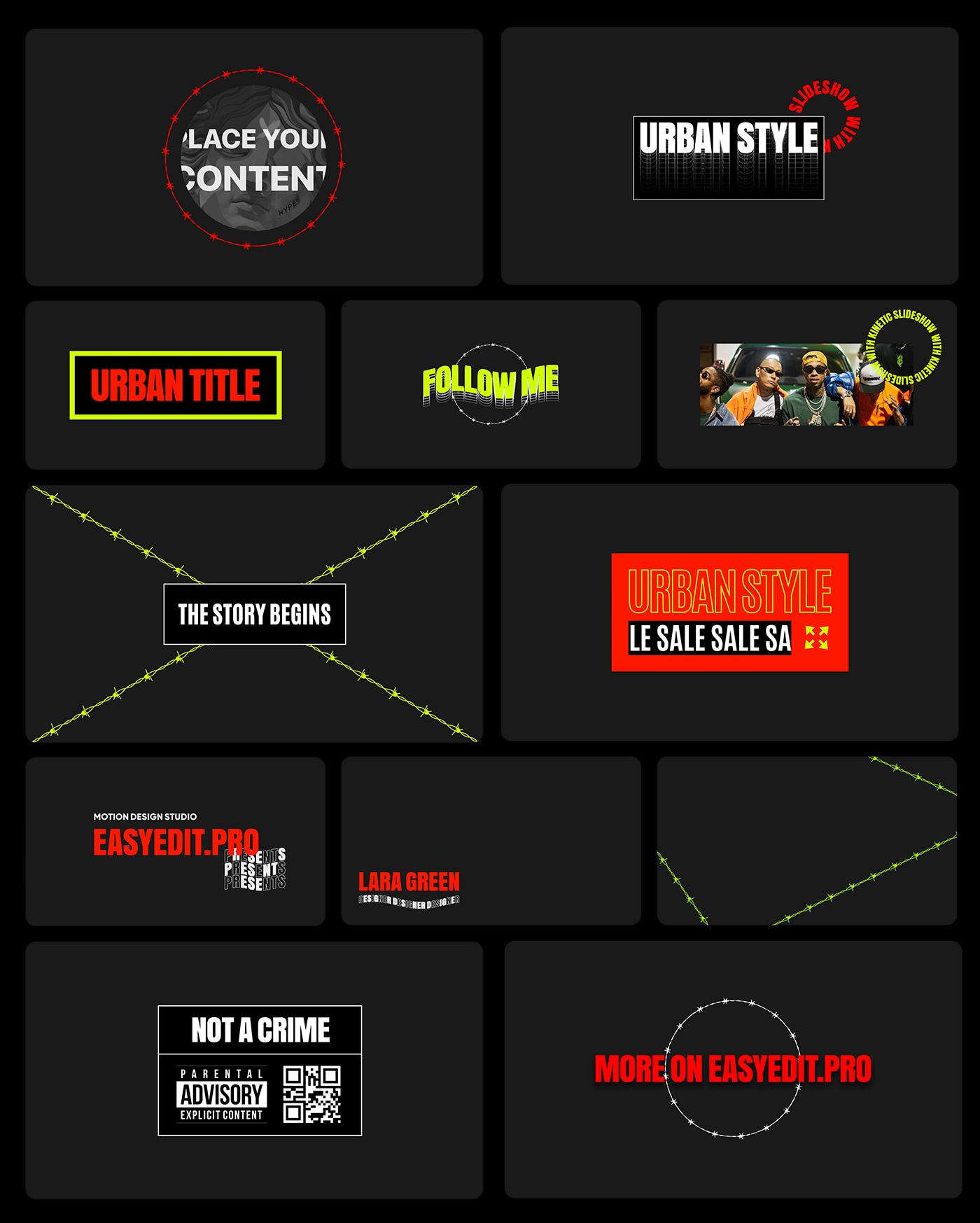 AE脚本-200多个创意文字标题排版时尚宣传视频包装动画工具包 Kinetic Social Pack for Win/Mac破解版插图20
