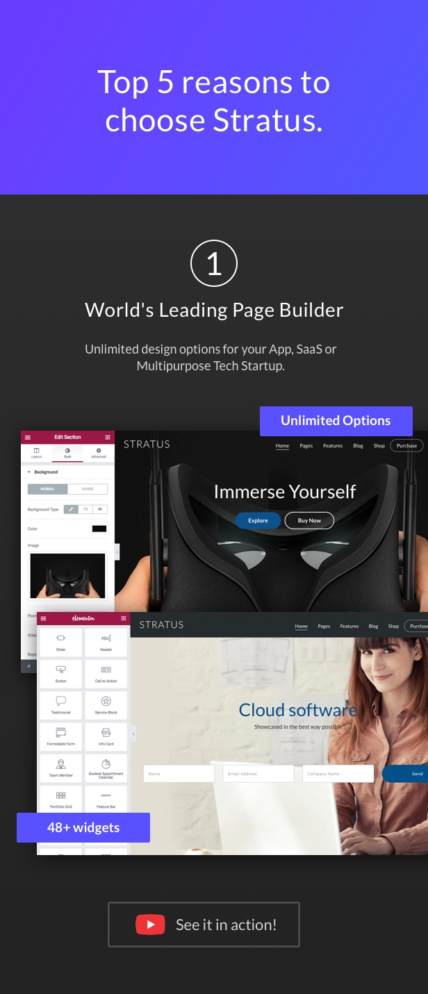 App, SaaS & Software Startup Tech Theme - Stratus - 1